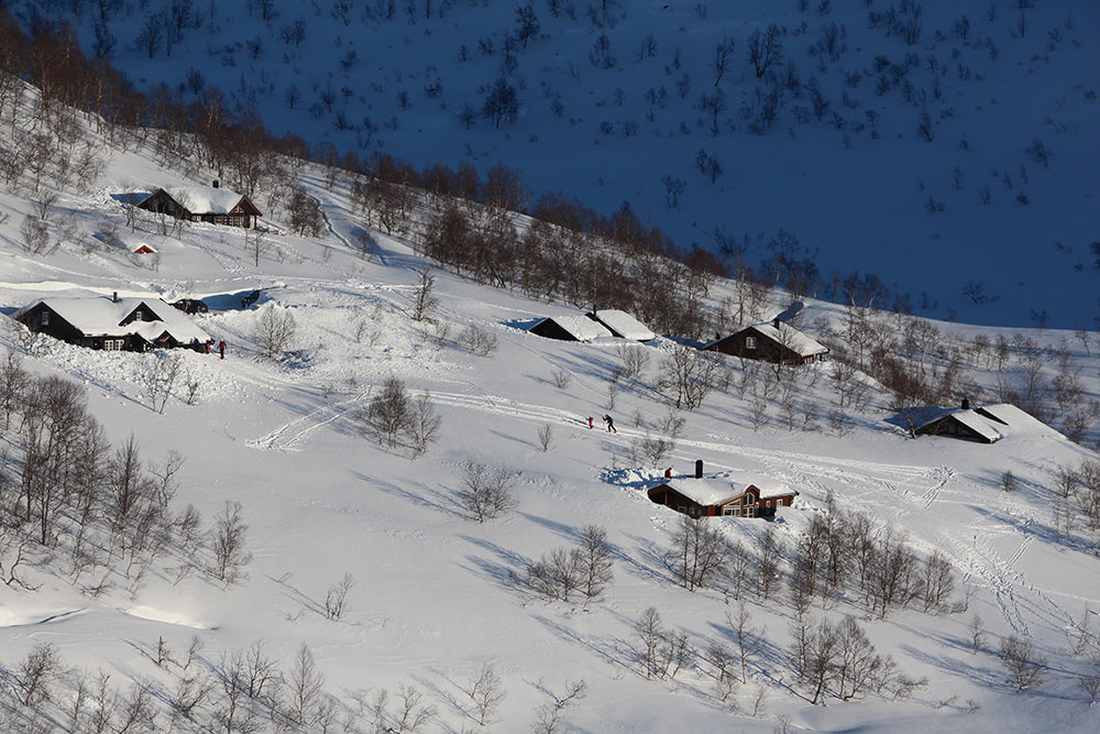 På ski i Bjørkelia