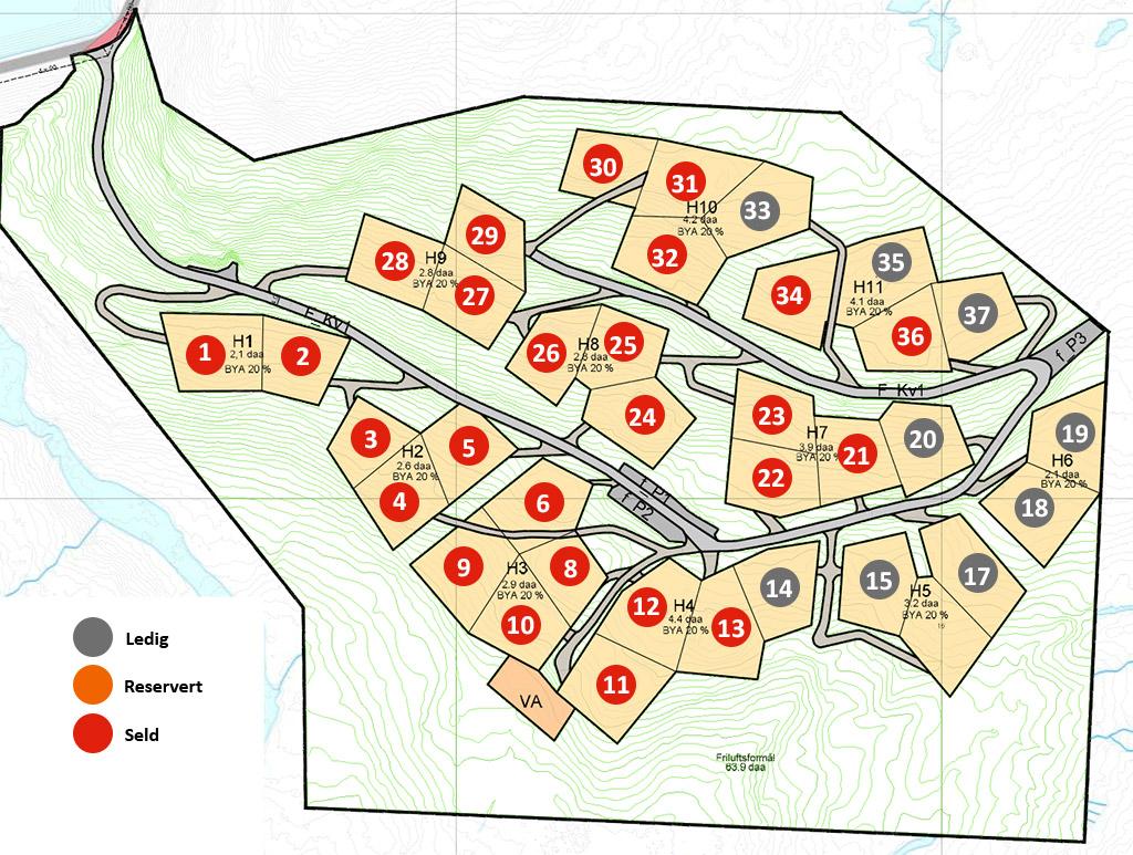 Kart Bjørkelia hyttegrend